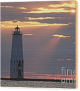 Frankfort North Breakwater Lighthouse Wood Print