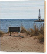 Frankfort Shore Wood Print