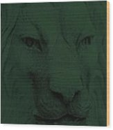 Frankie Lion Olive Green Wood Print