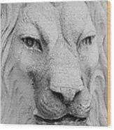 Frankie Lion Wood Print