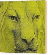 Frankie Lion Yellow Wood Print