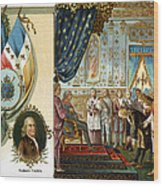 Franklin At Versailles Wood Print