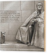 Franklin Delano Roosevelt Memorial - Bits And Pieces 7 Wood Print