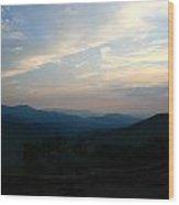 Franklin Sunset Wood Print