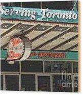 Fran's Restaurant  Toronto Diner Icon Wood Print