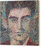 Franz Kafka Oil Portrait Wood Print