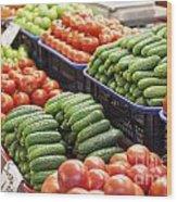 Frash Fruit And Vegetables Wood Print