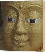 Freckled Gold Buddha Wood Print