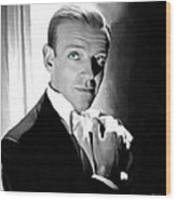 Fred Astaire Portrait Wood Print