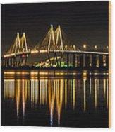 Fred Hartman Bridge Wood Print