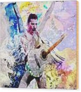 Freddie Mercury - Queen Original Painting Print Wood Print