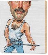 Freddie Mercury Wood Print by Art