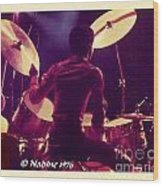 Freddie White Playing Drums Spirit Tour Wood Print
