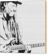 Freddy And His Guitar Wood Print