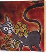 Freddy The Cat Wood Print
