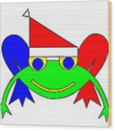 Frederic the Frog whishes you a Merry Christmas Wood Print