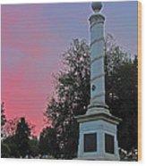 Fredericksburg Cemetery Sunset Wood Print
