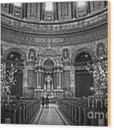 Frederik's Church Interior Wood Print