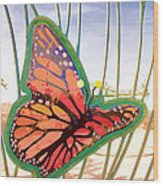 Free Butterfly Fly Wood Print