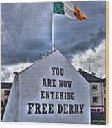 Free Derry Wall Wood Print