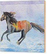 Da114 Free Gallop By Daniel Adams Wood Print