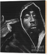 Free Will - 2 Pac Wood Print