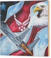 Freedom Eagles Wood Print