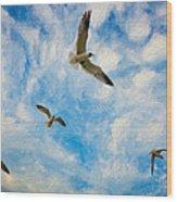 Freedom Impasto Wood Print