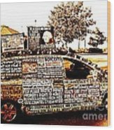 Freedom Of Speech On Wheels Wood Print by Desiree Paquette