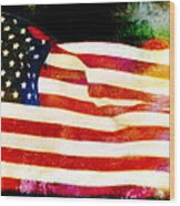 Freedom Wood Print by Steven  Michael