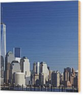 Freedom Tower And Lower Manhattan Wood Print