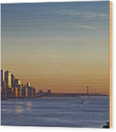 Freedom Tower And Lower Manhattan On The Hudson Wood Print
