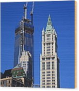 Freedom Tower And Woolworth Building Wood Print