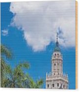 Freedom Tower Miami Dade College Wood Print