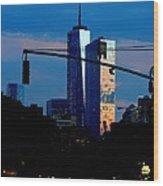 Freedom Tower New York Ny At Dusk Wood Print