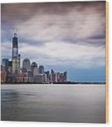 Freedom Tower Over The Hudson Wood Print