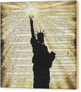 Freedoms Light Wood Print