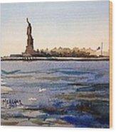 Freedom's Silhouette II Wood Print