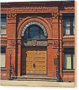 Freemasons Hall, Factors Walk Wood Print
