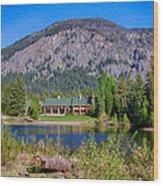 Freestone Inn Lakeside View Wood Print
