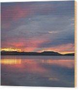 Freezeout Lake Sunset Wood Print
