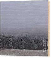 Freezing Fog Wood Print