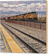 Freight Expectations Palm Springs Wood Print
