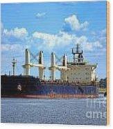 Freight Hauler Wood Print