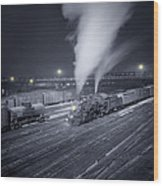 Freight Train About To Leave The Atchison Circa 1943 Wood Print