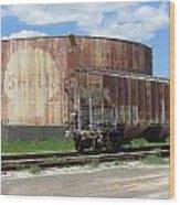 Freight Train Cars 4 Wood Print