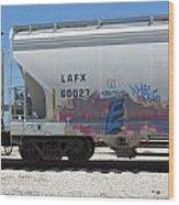 Freight Train Graffiti 7 Wood Print