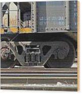 Freight Train Wheels 1 Wood Print