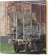 Freight Train Wheels 12 Wood Print