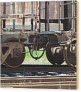 Freight Train Wheels 13 Wood Print